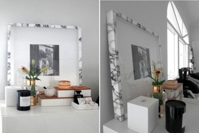 Những mẫu thiết kế nội thất từ giấy dán giả đá cẩm thạch đẹp tuyệt vời