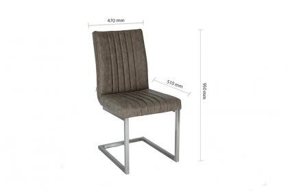 Ghế Y - 5171 màu xám, bọc PU