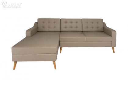 Sofa L bọc PU