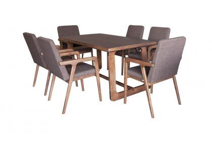 Bộ bàn ghế màu nâu KF 3064 DT - KF 4190 DC