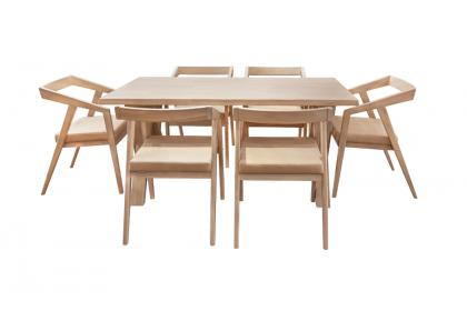 Bộ bàn ghế màu kem KF 3071-1 DT - KF 4230 DC