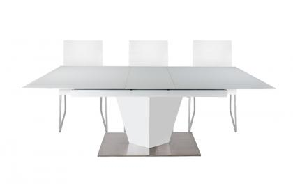 Bộ bàn ăn trượt kính trắng - VD8827